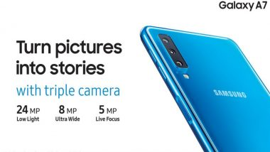 Galaxy A7, Samsung's First Triple Camera Smartphone Launches in India at Rs 23,990