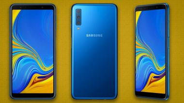 Samsung Galaxy A7 with Triple Camera Launching in India Today; Here's How You Can Watch Live Streaming
