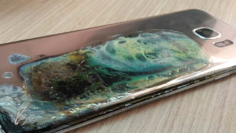 Samsung's Burning Phone Fiasco Strikes Again! This Time Its Galaxy S7 Edge Smartphone in Morocco | See Photos of the Damaged Phone