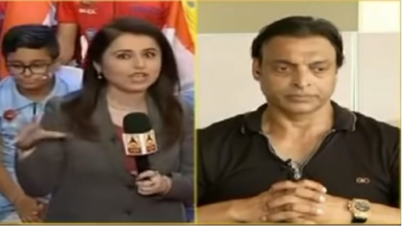 Shoaib Akhtar Teaches a Disrespectful Indian TV Anchor a Lesson in Manners on Live TV and Cricket Fans Are in Love With 'Rawalpindi Express' (Watch Viral Video)
