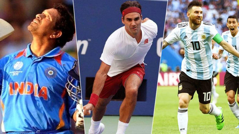 First Love Day 2018: Sachin Tendulkar, Roger Federer, Lionel Messi and Serena Williams on Their Love for Sports