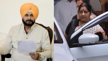 Sushma Swaraj Contradicts Navjot Singh Sidhu's Claim, Says 'No Word From Pakistan on Kartarpur Sahib Corridor'