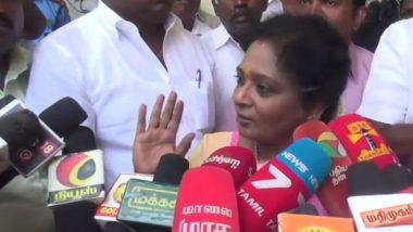 #ReleaseSophia Trends After Passenger Louis Sophia Arrested For Shouting 'Fascist BJP Down Down' Slogan at TN BJP Chief Tamilisai Soundararajan