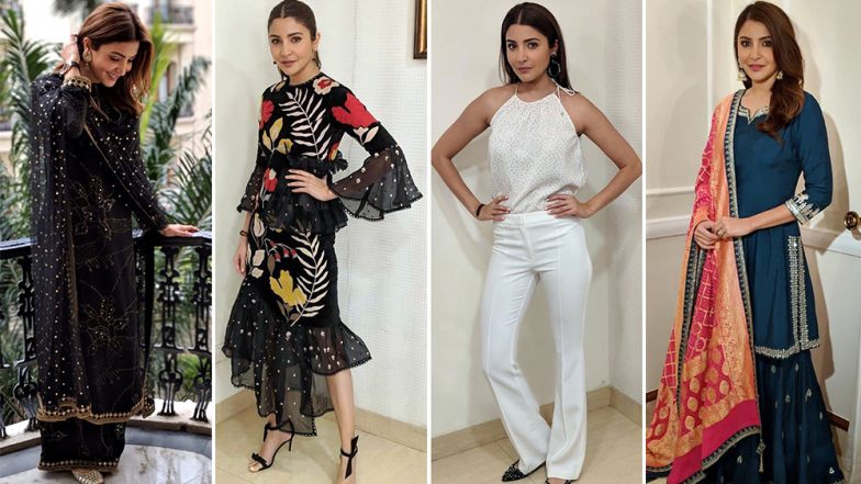Anushka Sharma's Style File for Sui Dhaaga Promotions Was a Blend of Modern Silhouettes and Traditional Approach – View Pics