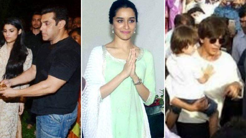 Ganesh Chaturthi 2018: Salman Khan, Shraddha Kapoor, Shah Rukh Khan and Other Bollywood Celebs All Set to Bring Bappa Home
