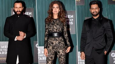 GQ Men of the Year Awards 2018 Best Dressed: Esha Gupta, Vicky Kaushal and Saif Ali Khan's Impeccable Styling Win Our Hearts