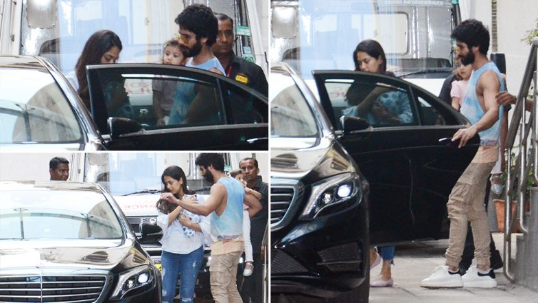 3 Pics of Shahid Kapoor Being a Doting Dad and Husband That Will Win Your Heart