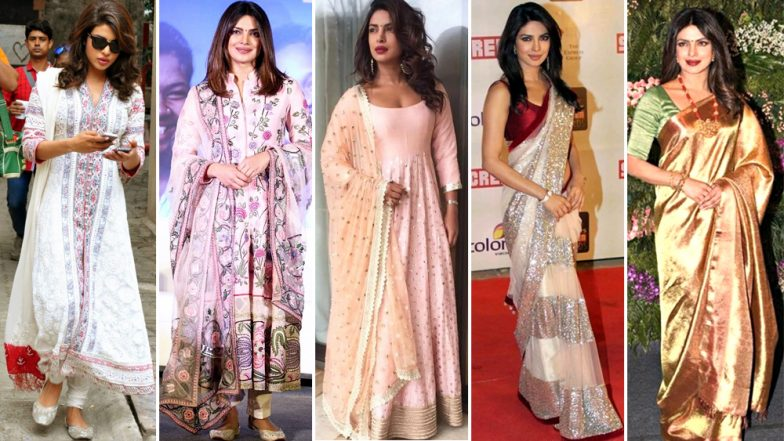 Ganesh Chaturthi 2018: Priyanka Chopra Is Bollywood's 'Desi Girl' and It's Time You Borrow the Tag From Her – View Pics