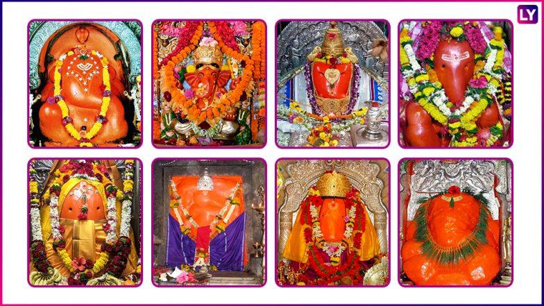 Ashtavinayak Yatra Sequence & Map: Know All About The 8 Important Ganpati Temples in Maharashtra This Ganeshotsav