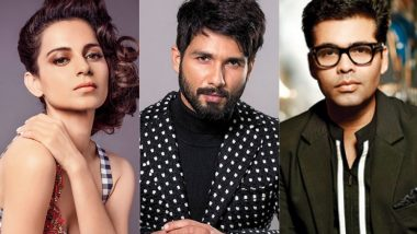 Dear Karan Johar, Shahid Kapoor Agrees With Kangana Ranaut That Bollywood Is in One of the Most Nepotistic Times