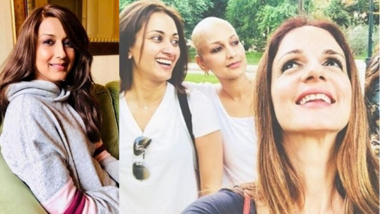 Sonali Bendre Ditches Her New Wig, Flaunts Her Cool Bald Look Instead While Chilling With Friends – See Pic