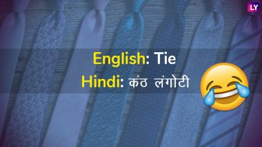 Hindi Diwas 2018 Special: These Common English Words Translated Into Hindi Are 'Literally Funny!'