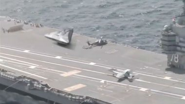 Triangle Shaped UFO Spotted on US Aircraft Carrier? Hoax Busted, Here Is the Real Unedited Video