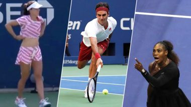 US Open 2018 Top Moments: Alize Cornet's Shirt Change Controversy to Serena Williams' Meltdown to Roger Federer's Unforgettable Shot and Much More, See Videos