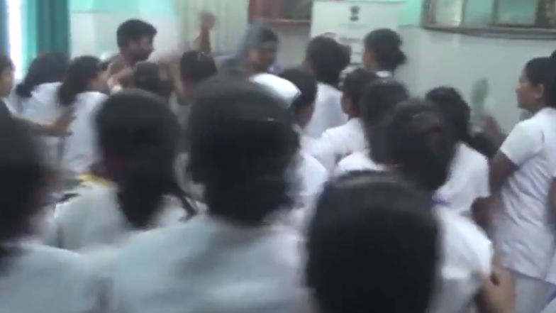 Bihar: Nurses of a Hospital in Katihar Thrash a Doctor Who Allegedly Molested Female Medical Staff; Watch Video