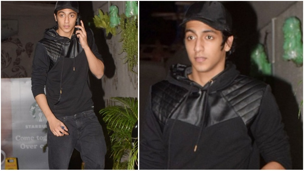 AHAAN PANDAY LOOKING SMARTIE IN BLACK