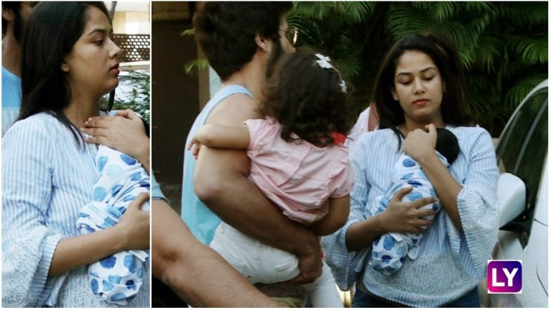 First Picture of Shahid Kapoor and Mira Rajput's Baby Boy Zain Just for Your Eyes