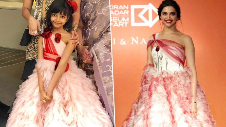 When Aaradhya Bachchan's Pretty Pink Dress Reminded Us of Deepika Padukone