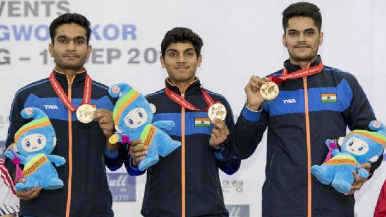 ISSF World Shooting Championship: Arjun Singh Cheema Bags Individual and Team Gold, Manisha Keer Wins Silver