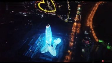 Chinese Skyscraper in shape of Penis and Testicles; Looks Like It Is 'Ejaculating' because of Fireworks On Top(Watch Video)