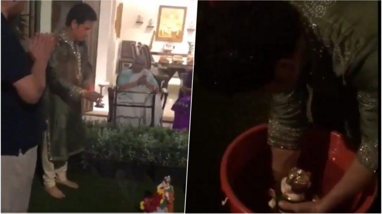 Ganeshotsav 2018: Sachin Tendulkar Performs Ganpati Visarjan at Home, Urges Fans to Go Eco-Friendly in This Video
