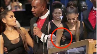 Bishop Gropes Ariana Grande's Breast at Aretha Franklin's Funeral, Says 'It Would Never be My Intention' (See Pics & Videos)