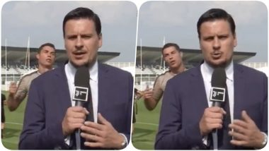 Cristiano Ronaldo Videobombs a Journalist; Makes Funny Faces During Juventus Training Session (Watch Video)