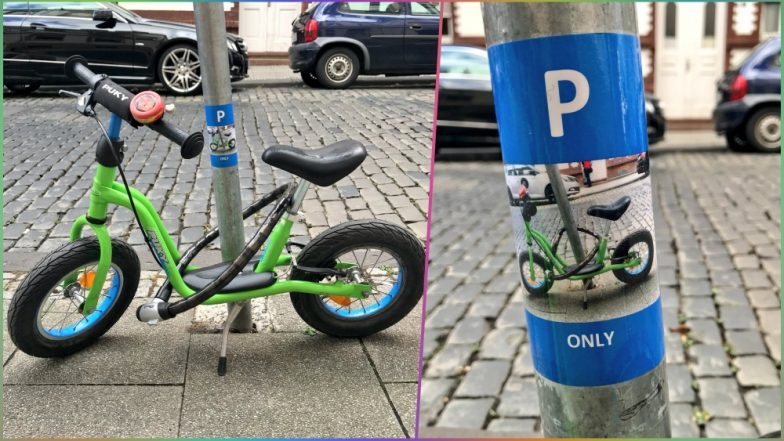 Stranger Gifts Kid His Own Parking Spot for His Little Bike & Twitter Calls It 'The Most Adorable Random Act of Kindness Ever'