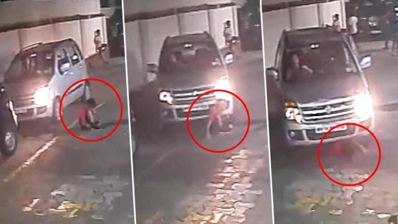 Viral Video: Lady Driver Runs Over Kid Playing With Friends, Child Escapes Unhurt