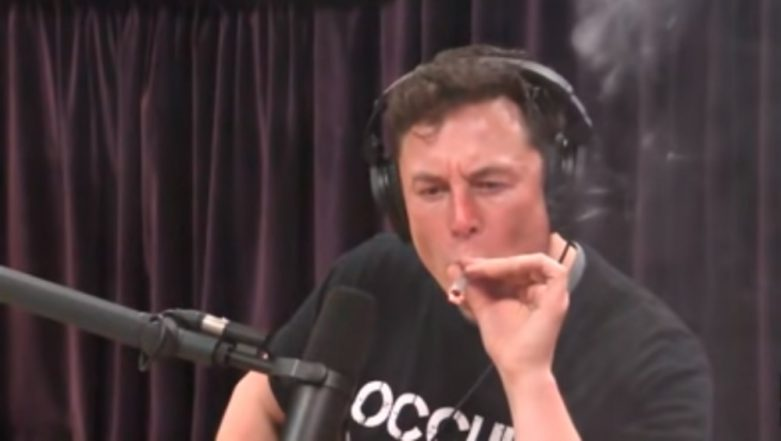 Elon Musk Smokes Weed, Drinks Whiskey on Live Web Show, Watch Video