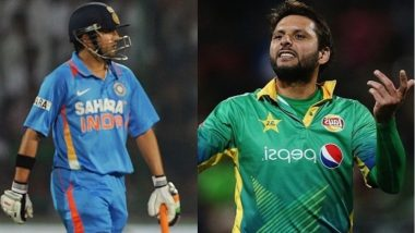 Shahid Afridi, Gautam Gambhir Face Off in a TV Debate, Talk About Kashmir Issue Ahead of India vs Pakistan Asia Cup 2018; Watch Video