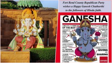 Lord Ganesha Insulted in U.S Republican's Ad! Party Issues Apology after Hurting Hindu Sentiments