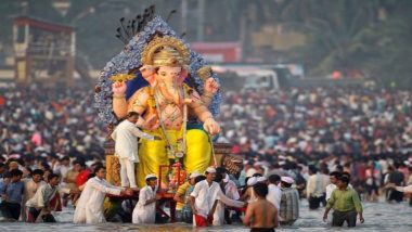 Ganesh Visarjan 2018: Girgaon Chowpatty to Juhu Beach, Popular Spots to See Ganpati Immersion in Mumbai on Anant Chaturdashi