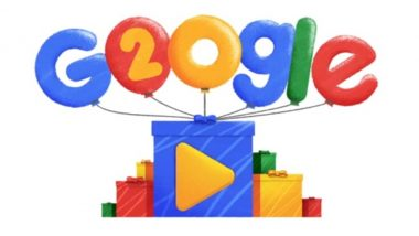 Google Turns 20, Celebrates Birthday With Special Doodle; Watch Video