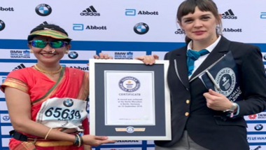Mumbai Woman Runs In a Nauvari, Sets Record for 'Fastest Marathoner in a Sari' at Berlin Marathon 2018