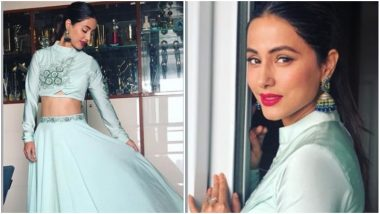 Hina Khan Goes Traditional, Looks Ethereal in a Pastel Green Ethnic Wear – See Pic