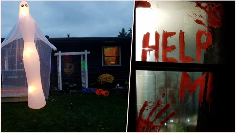 North Dakota Woman's Early 'Help Me' Halloween Decorations Are So Scary That Neighbours Called the Police