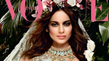 Kangana Ranaut Turns Into a Gorgeous Bride On Vogue Cover: Do We Hear Wedding Bells soon?