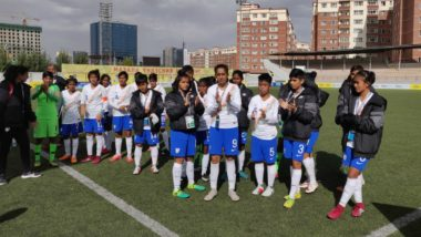India Beat Pakistan 4-0 in AFC U-16 Women's Championship Qualifiers Football Match Ahead of the Asia Cup 2018 Men's Cricket Tournament