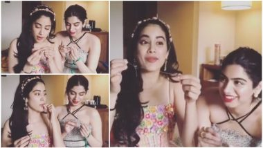 #SuiDhaagaChallenge: Janhvi Kapoor Nails the Challenge, Nominates Ishaan Khatter, Aayush Sharma and Warina Hussain – Watch Video