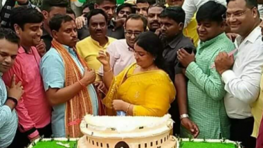BJP MP Ram Shankar Katheria Criticised for cutting Parliament-shaped cake