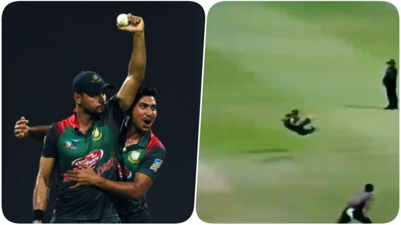 Mashrafe Mortaza Takes a Stunning Catch During Bangladesh vs Pakistan, Asia Cup 2018 (Watch Video)