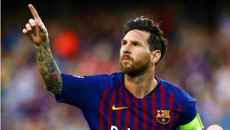 Lionel Messi Becomes First Player to Score 400 Goals in La Liga, Barcelona Hails the Feat (Watch Video)