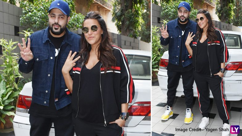 These Pics of a Pregnant Neha Dhupia Greeting Bad Boy Badshah Are Overflowing With Swag