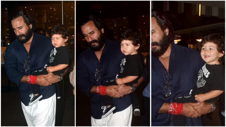 Taimur Ali Khan Goes From Being Grumpy to All Smiles in a Matter of Seconds – View Pic