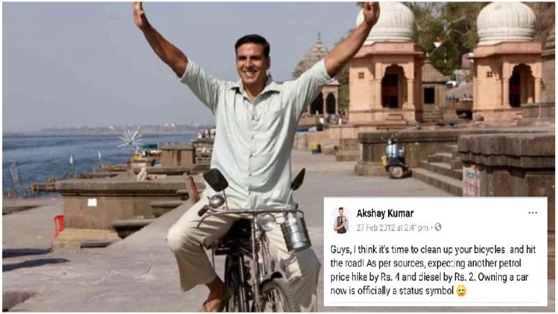 Akshay Kumar Deletes 6-Year-Old Tweet on Petrol Hike; Gets Trolled on Twitter For the 'Hypocrisy'