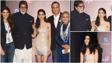 Amitabh, Jaya Bachchan, Neha Dhupia Grace The Launch of Shweta Nanda's Fashion Store But The Pretty Navya Naveli Nanda Holds Our Attention - View Pics