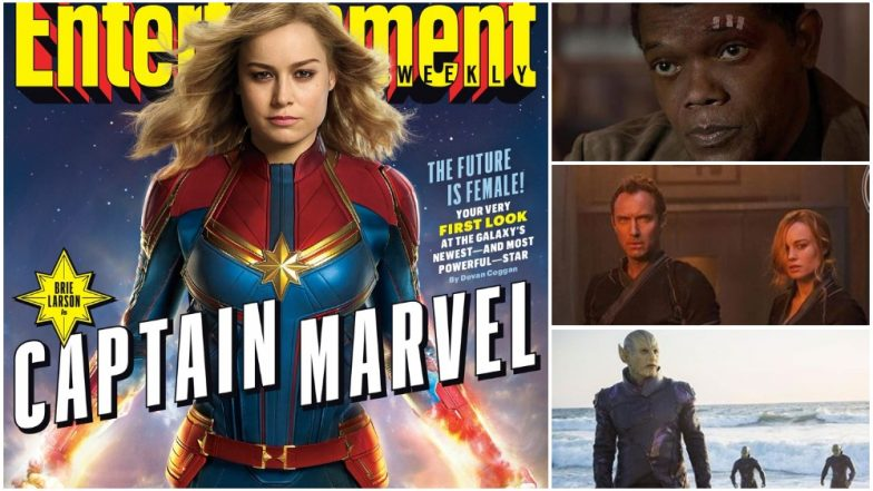 Captain Marvel First Official Stills OUT! From Brie Larson's Superhero Suit, Kree to Nick Fury With Two Eyes, MCU's Upcoming Film Looks Damn Exciting! View Pics