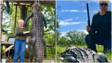 Livingston, Texas Mayor Kills 12-Foot Alligator Suspected of Eating Her Horse (See Pictures)