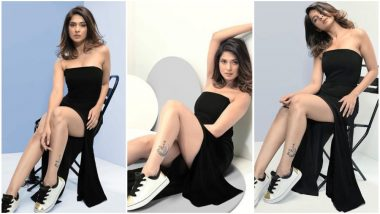 Jennifer Winget Pairs Her Sexy Black Dress With Sneakers and All We Can Say Is Hot Damn! View Pics